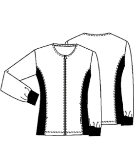 Basic Uni Warm Up Jacket at Modern Medical Uniforms.com