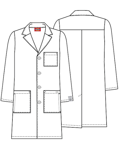 cherokee 83403a 40 unisex lab coat discount nursing uniforms Double Breasted Coat cherokee scrubs 40 unisex lab coat 83403a