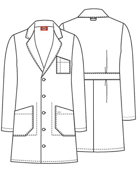 lab coat clip art sketch coloring page